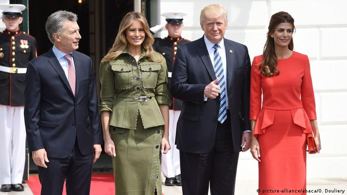 USA Mauricio Macri & Donald Trump in Washington (picture-alliance/abaca/O. Douliery)