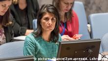 USA Vereinte Nationen zur Lage in Syrien Nikki Haley