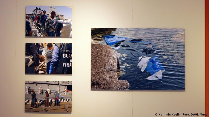 Herlinde Koelbl's 'Refugees' exhibition (Herlinde Koelbl, Foto: DW/H. Mund)