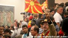 Mazedonien Skopje Parlamentssturm