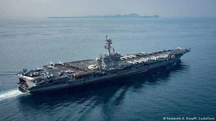 US Flugzeugträger USS Carl Vinson (Reuters/U.S. Navy/M. Castellano)