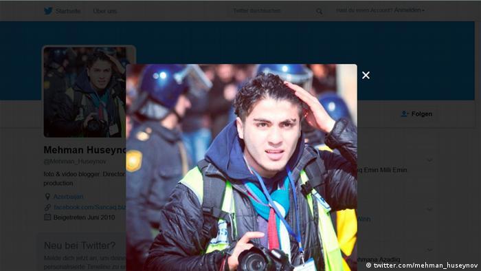 Screenshot Twitter Account von Blogger Mehman Huseynov aus Aserbaidschan (Foto: twitter.com/mehman_huseynov)