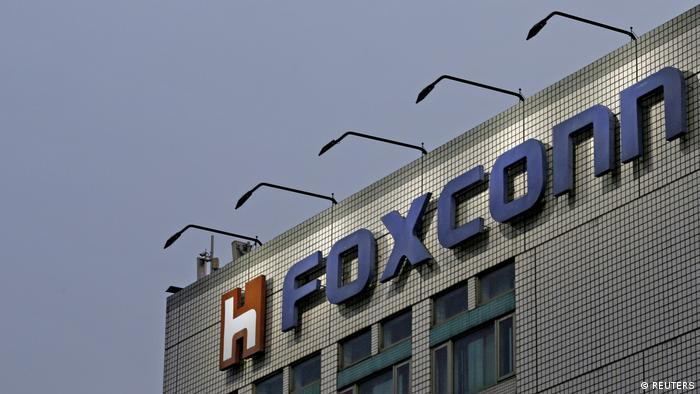 FILE PHOTO: The logo of Foxconn, the trading name of Hon Hai Precision Industry, is seen on top of the company's headquarters in New Taipei City, Taiwan (REUTERS)