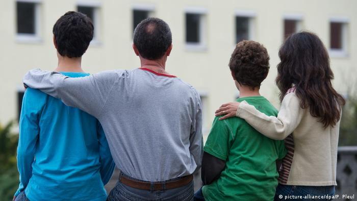 Refugee family in Germany