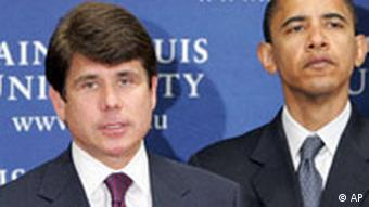 Rod Blagojevich Gouverneur Illinois Obama