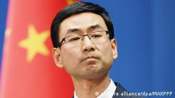 China Sprecher des Außenministeriums Geng Shuang (picture alliance/dpa/MAXPPP)
