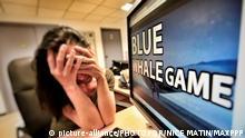 ©PHOTOPQR/NICE MATIN ; CHALLENGE BLUE WHALE ILLUSTRATION suicide jeune |