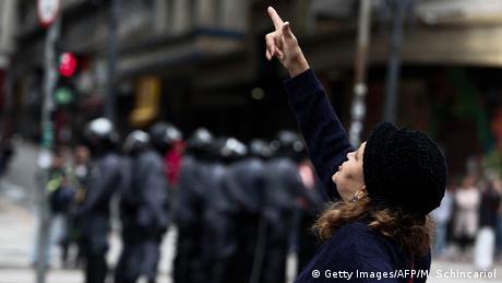 Brasilien Streik in Sao Paulo (Getty Images/AFP/M. Schincariol)