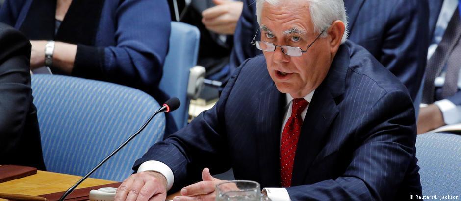 Tillerson presidiu reunião de Conselho de Segurança sobre Coreia do Norte
