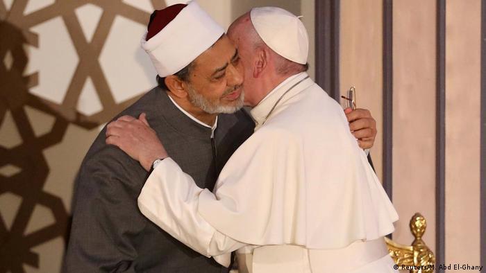 Ägypten Papst Franziskus in Kairo   mit Imam Ahmed al-Tayeb