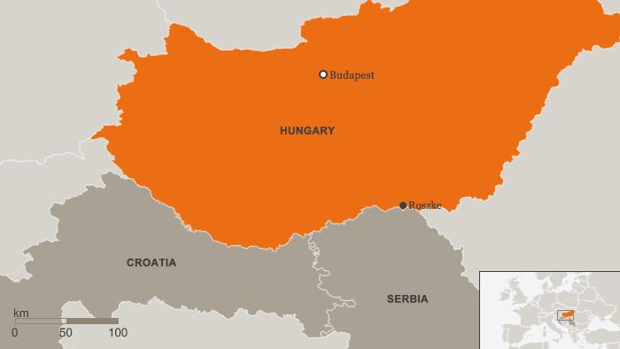 Karte Ungarn Grenze Kroatien Serbien ENG