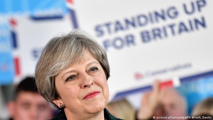 Großbritannien Wahlkampf Theresa May
