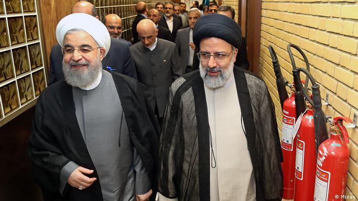 حسن روحانی و ابراهیم رئیسی در دوران انتخابات