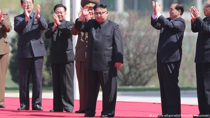 Nordkorea Kim Jong Un (picture-alliance/Jiji Press/M. Matsutani)