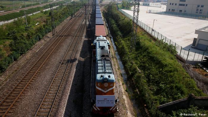поезд из Лондона в Китае