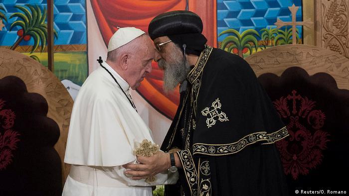 Ägypten Papst Franziskus und Papst Tawadros II in Kairo