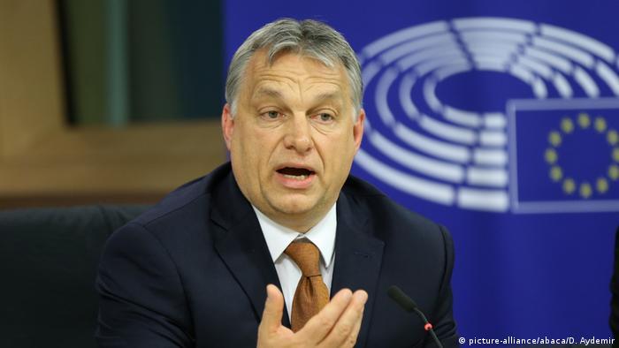 Brüssel Viktor Orban PK (picture-alliance/abaca/D. Aydemir)