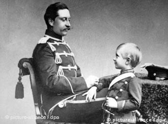 Император Вильгельм II с сыном