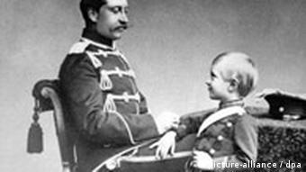 Deutschland Kaiser Wilhelm II. mit seinem Sohn Kronprinz Wilhelm