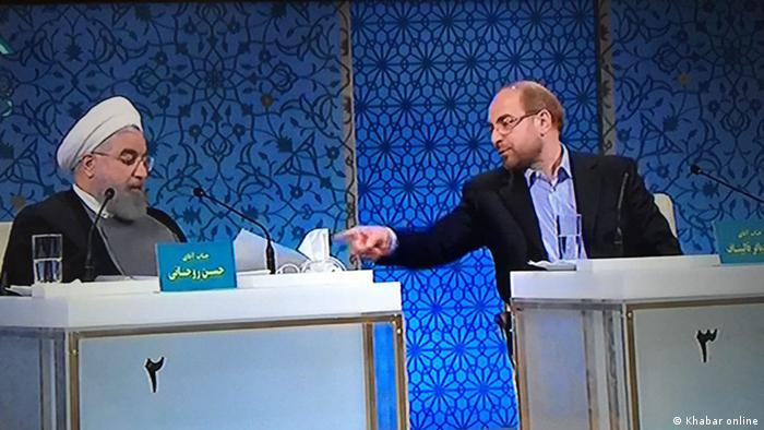 Iran Wahl Screenshot vom Kandidat Mohammad Bagher Ghalibaf (Khabar online)
