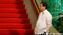 ASEAN 2017 Philippine President Rodrigo Duterte waits for other Southeast Asian leaders to arrive during the 30th ASEAN summit in Manila