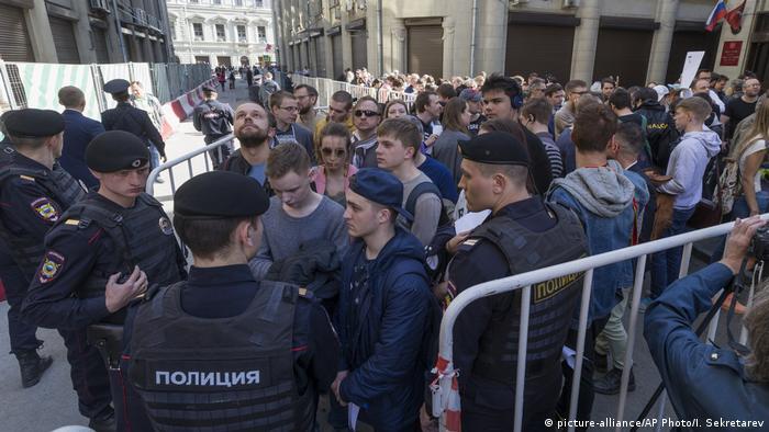 Russland Anti-Putin-Proteste in Moskau (picture-alliance/AP Photo/I. Sekretarev)