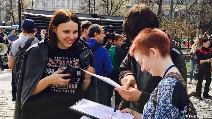 Russland Anti-Putin-Proteste in Moskau (DW/J. Rescheto)