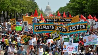 Demonstrators gather for People's Climate March in Washington