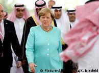 Меркель прибыла с визитом в Саудовскую Аравию