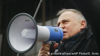 Николай Статкевич на одном из митингов (фото из архива)