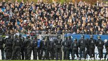 Fußball Regionalliga Ausschreitungen beim Spiel SV Babelsberg 03 - FC Energie Cottbus