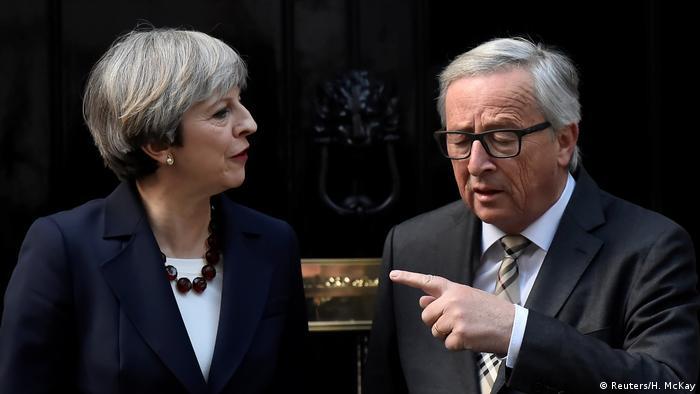 Großbritannien Theresa May und Jean-Claude Juncker