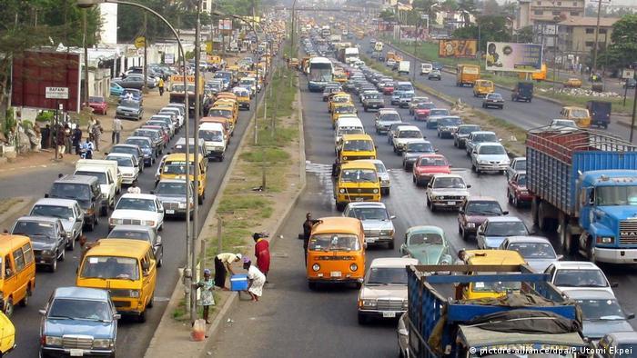 Straßenverkehr Lagos Stau