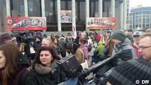 Teilnehmer der 1 Mai-Protestaktion in Weißrussland