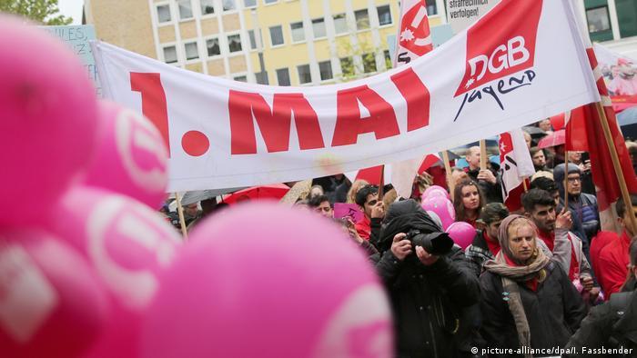 Deutschland 1. Mai in Gelsenkirchen DGB-Kundgebung (picture-alliance/dpa/I. Fassbender)