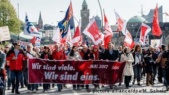 Deutschland 1. Mai in Hamburg DGB-Demonstration
