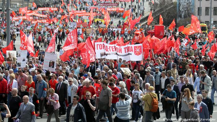 Rallies on May Day in Moskau (picture alliance/dpa/A.Korotayev)