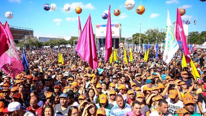 Braslien 1. Mai Demonstration in Sao Paulo