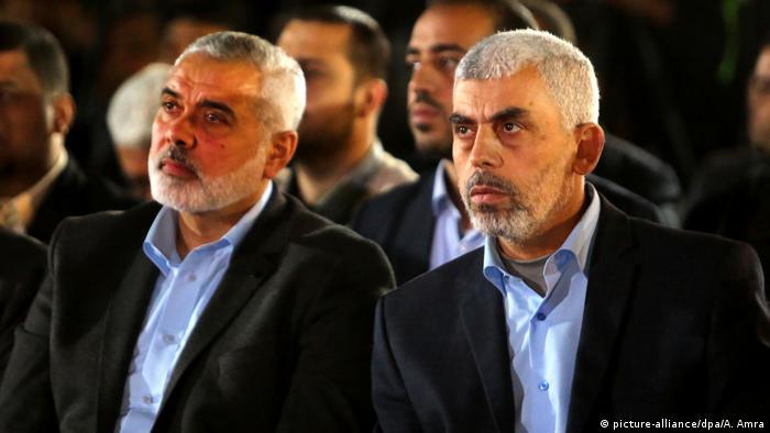 Gaza-Stadt Jihia al-Sinwar und Ismail Haniyya Hamas Führung