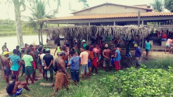 Indígenas do povoado de Bahias Viana, no Maranhão