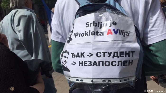Serbien Erste Mai Proteste in Belgrad