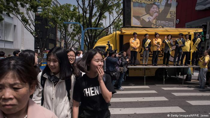 Südkorea Wahlkampf Sim Sang-Jung in Seoul (Getty Images/AFP/E. Jones)