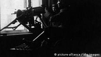 Deutschland Spartakusaufstand MG-Stellung