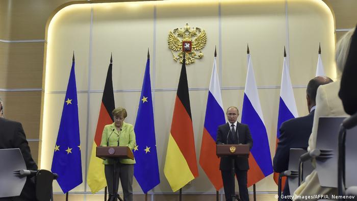 Russland   Pressekonferenz Merkel Putin