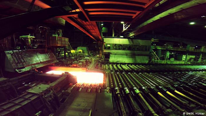 A steel production facility in Germany (DW/M. Hütter)