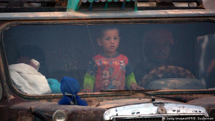 Syrien Vertriebene Region Rakka