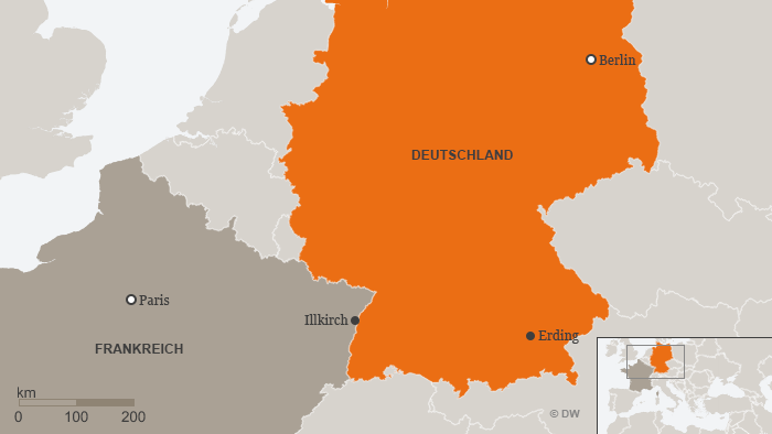 Karte Erding Illkirch DEU