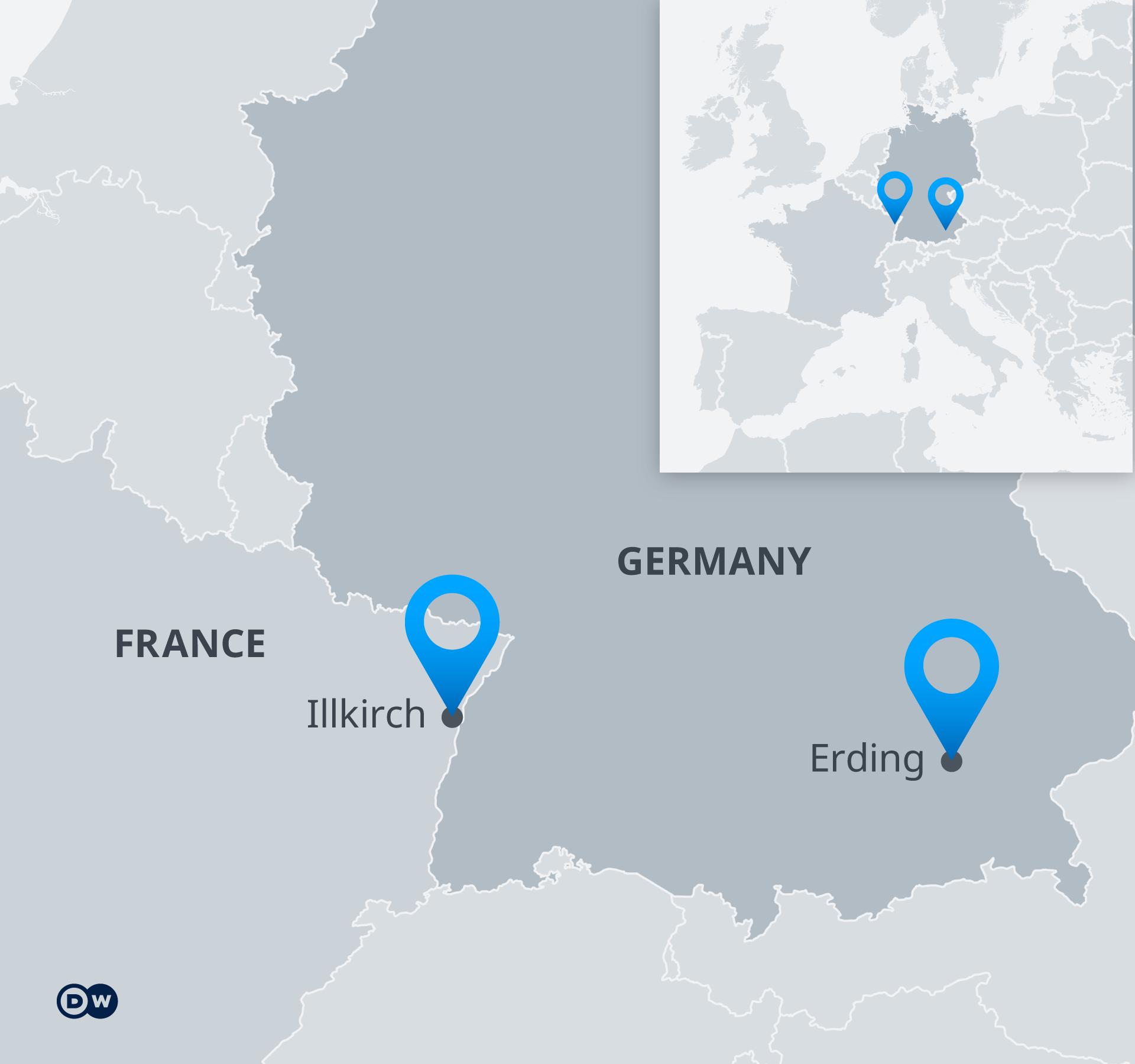 Karte Erding Illkirch ENG