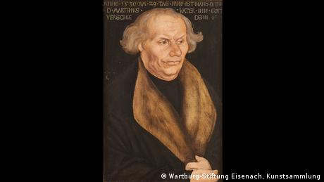 In Wittenberg in 1527, Lucas Cranach painted this picture of Luther's father in 1527 (Wartburg-Stiftung Eisenach, Kunstsammlung)