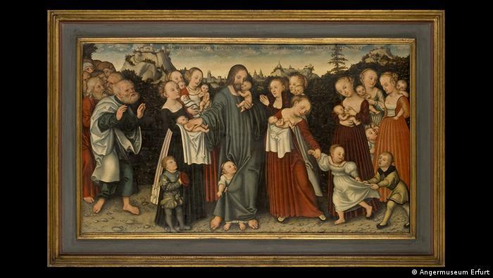 Painting by Lucas Cranach, the Elder, Lasset die Kindliein zu mir kommen c. 1537 (Angermuseum Erfurt)